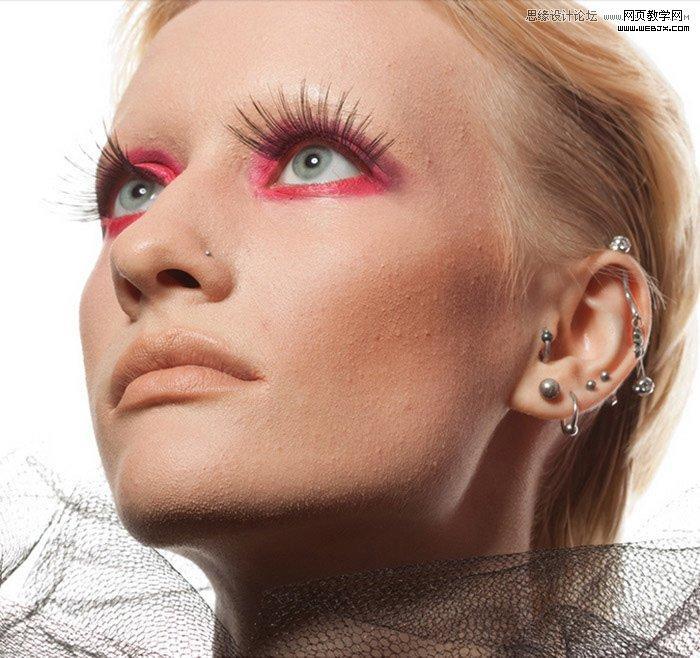 Photoshop磨皮教程 国外美女模特保留质感磨皮